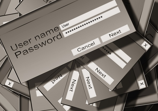 User name and password dialog box
